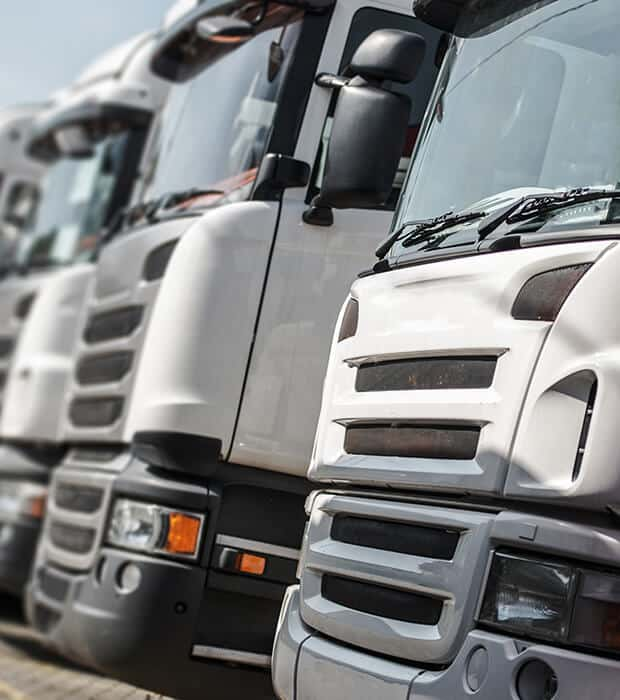 Flota de camiones Transportes Gaypemar nacional e internacional